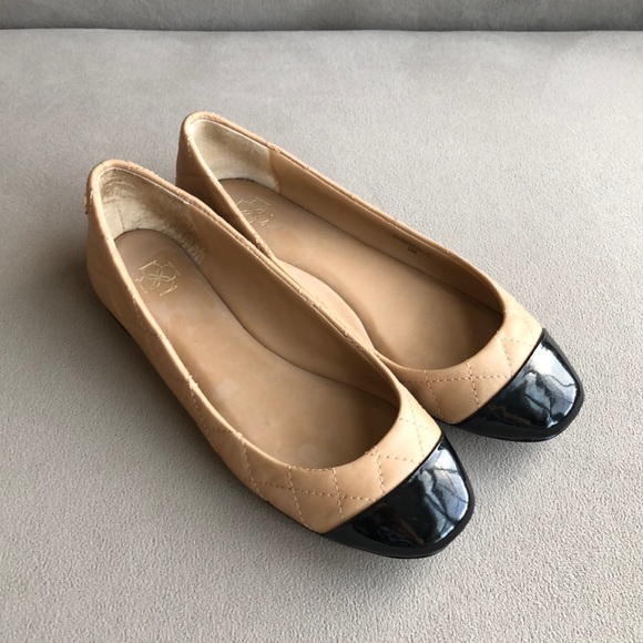 Ann Taylor Shoes - Ann Taylor Laddy quilted leather ballet flats (5M)